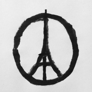Banksy: peace for paris