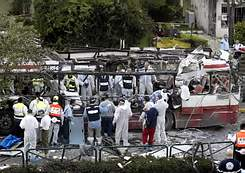 """""""The center of the bus lifted up into the air; the roof was torn off."""""""